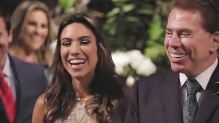 Vídeo mostra Silvio Santos conduzindo Patricia Abravanel ao altar em casamento