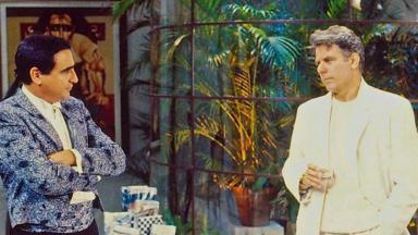 Luiz Gustavo e Reginaldo Faria em cena de Ti Ti Ti
