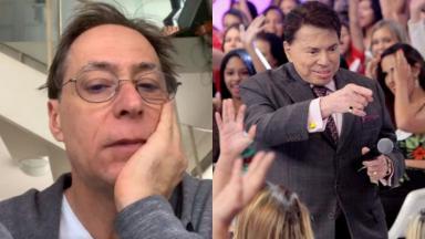 Pedro Cardoso e Silvio Santos