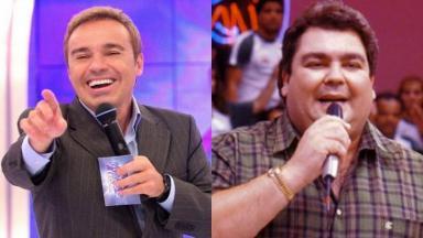 Gugu Liberato e Fausto Silva