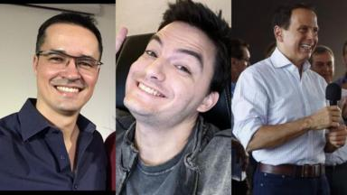 Deltan Dallagnol, Felipe Neto e João Dória