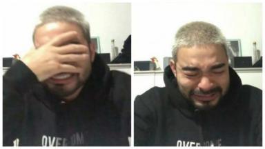 Yudi Tamashiro chorando