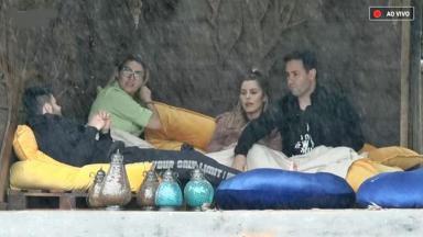"""Viny , Aricia, Thayse e Netto Dj falam sobre formação da Roça em """"A Fazenda 11"""""""