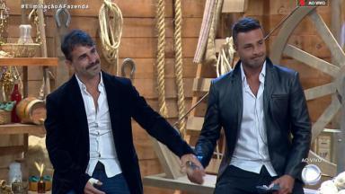 Jorge Sousa e Rodrigo Phavanello disputaram a preferência do público em roça de A Fazenda 2019