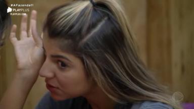 Hariany Almeida chorou e desabafou com Tati Dias em A Fazenda 2019