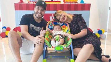Marília Mendonça e Murilo Huff com Leo, filho do casal