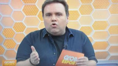 Rodrigo Rodrigues durante o Globo Esporte