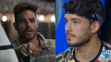 Lucas anda criticando Diego no reality show rural A Fazenda 2019.