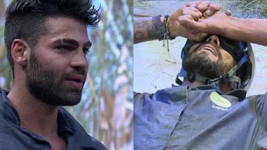 Netto Rodrigues e Diego Grossi disputaram a Prova do Fazendeiro no reality show A Fazenda 2019
