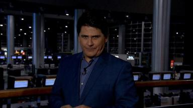 César filho com um dos programas de alta audiência da Record, com o Aeroporto