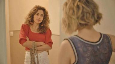 Érica e Estela em cena de Amor de Mãe