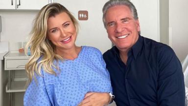 Roberto Justus e a esposa