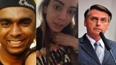 Felipe, Anitta e Bolsonaro