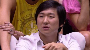 Pyong durante eliminação do BBB20
