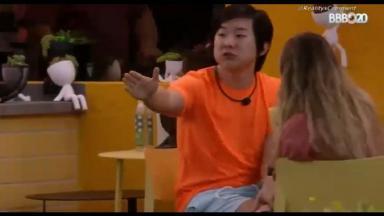 No BBB20, Pyong bateu boca com Hadson