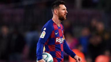 Messi durante partida do Barcelona