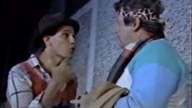 Edson Celulari e Fúlvio Stefanini em cena de Brasileiras e Brasileiros