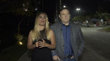 Roberto Cabrini e Bruna Surfistinha