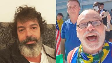 Bruno Mazzeo critica Paulo Cintura após ato com Jair Bolsonaro