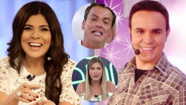 Mara Maravilha, Lívia Andrade, Leo Dias e Caco Rodrigues numa montagem