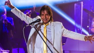 Roberto Carlos durante apresentação