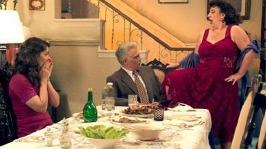 Cena de Êta Mundo bom com Diana, Severo e a falsa mãe