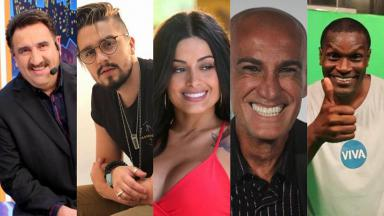 Ratinho, Luan Santana, Aline Riscado, Amin Khader e Jacaré