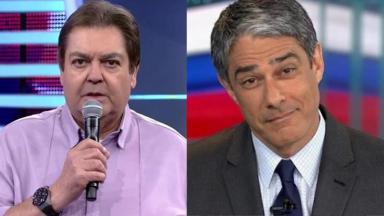 Fausto Silva e William Bonner