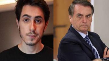 Felipe Castanhari e Jair Bolsonaro