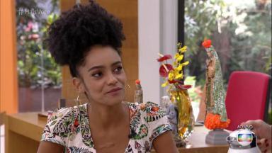 """Gabriela do """"BBB 19"""" conversando com Ana Maria Braga"""