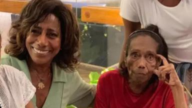 Glíria Maria e dona Edna Alves