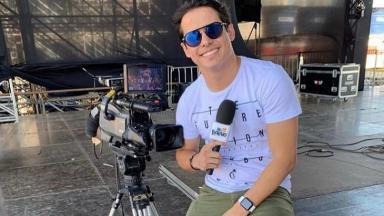 Seu Waldemar, apresentador do No Balaio, da TV Anhanguera