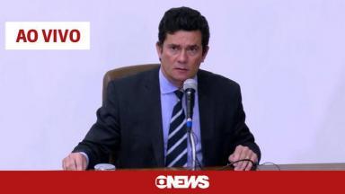 Coletiva de imprensa de Sérgio Moro, vista pelo GloboNews