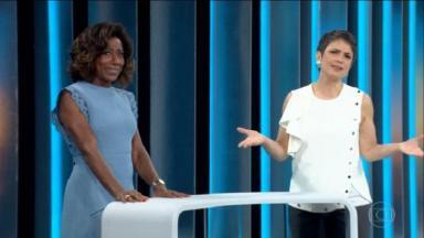 Sandra Annemberg e Glória Maria apresentando o Globo Repórter.