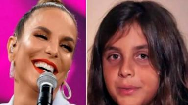 A cantora Ivete Sangalo e o filho