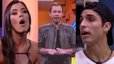 Ivy, Tiago Leifert e Felipe Prior