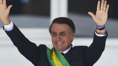 Bolsonaro durante posse presidencial