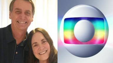 Jair Bolsonaro, Regina Duarte e Globo