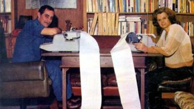 Dias Gomes e Janete Clair em foto