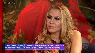 Joelma durante entrevista no Hora do Faro