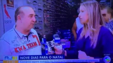 Repórter desmaia ao vivo