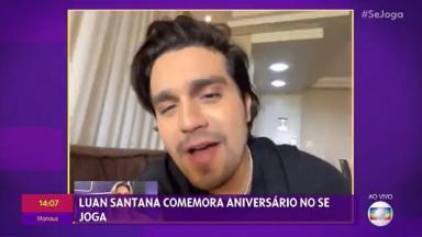 Luan Santana em participação no Se Joga