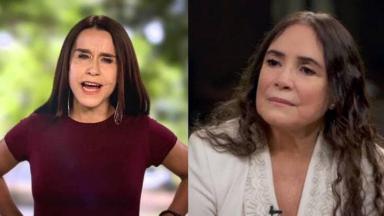 Lucélia Santos e Regina Duarte em tela dividida