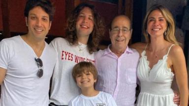 Marco Antônio, Lucas, Lorenzo, João Alberto e Luciana Gimenez