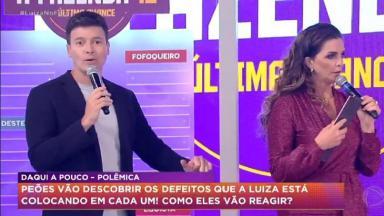Luiza Ambiel com Rodrigo Faro na Hora do Faro