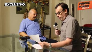 Márcio Canuto e Marcelo Bonfá conversam sentados