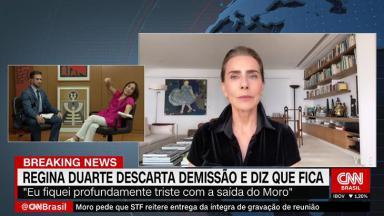 Maitê Proença fala sobre Regina Duarte na CNN