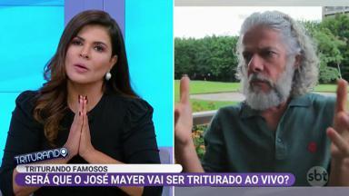 Mara Maravilha perdoa Regina Duarte no Triturando, programa do SBT