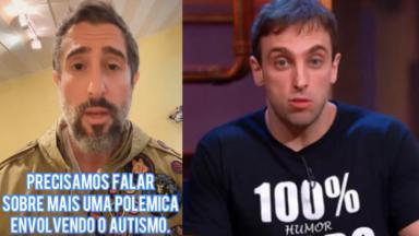 Marcos Mion e Léo Lins
