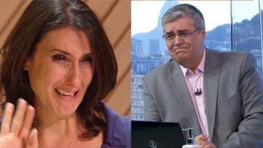 Paola Carosella, à esquerda, e Flávio Fachel, à direita,  em foto montagem